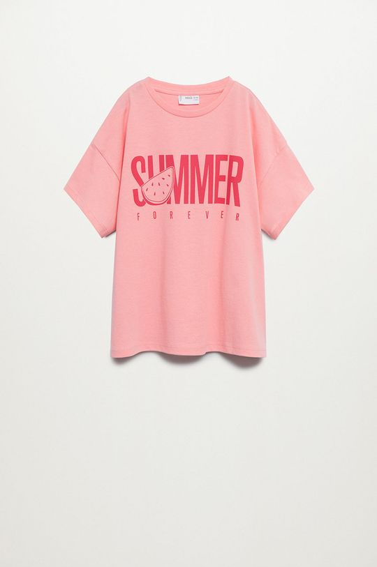 ružová Mango Kids - Detské tričko Nica 116-164 cm Dievčenský