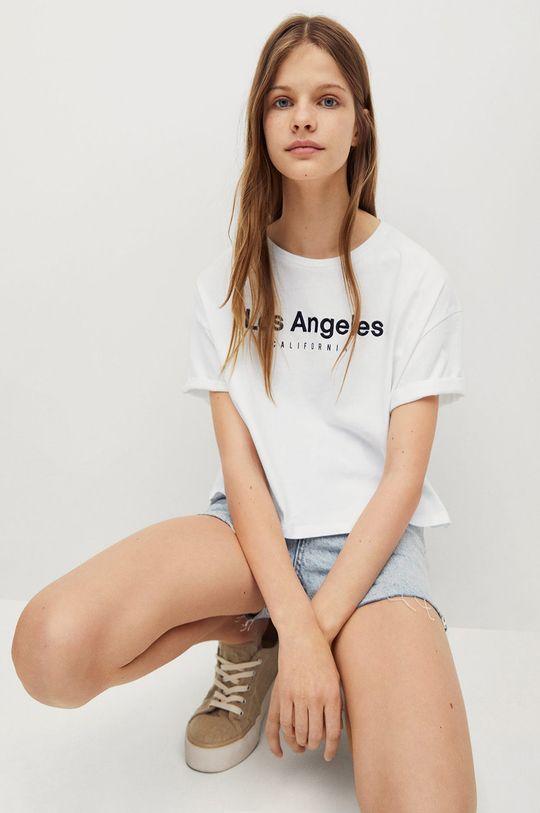 Mango Kids - T-shirt dziecięcy Flow 100 % Bawełna