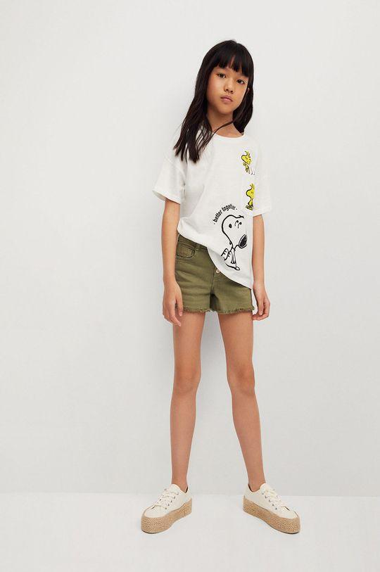 Mango Kids - T-shirt dziecięcy Emilio-I 116-164 cm biały