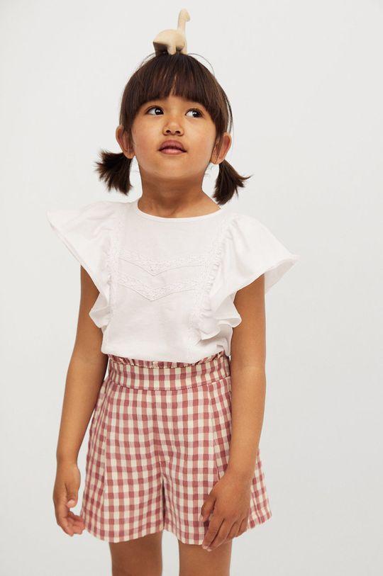 biela Mango Kids - Detské tričko Priscila 80-104 cm Dievčenský