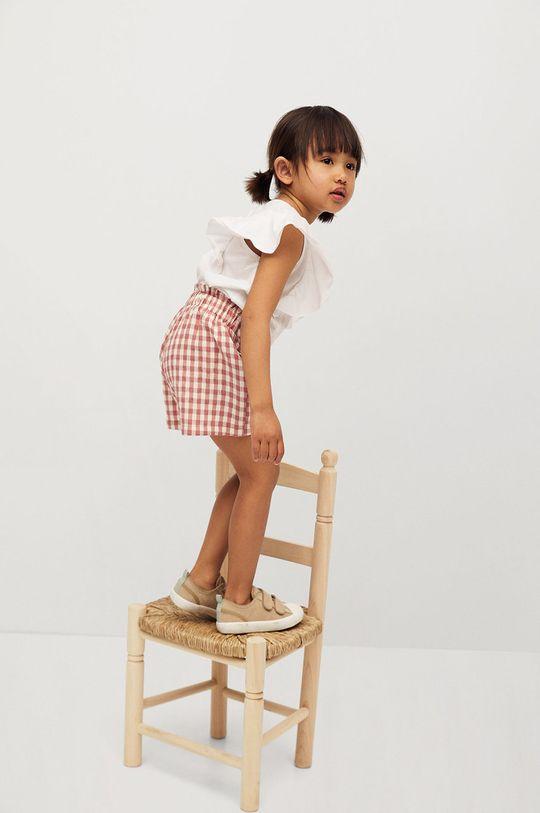 Mango Kids - Detské tričko Priscila 80-104 cm biela