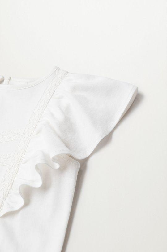 biela Mango Kids - Detské tričko Priscila 80-104 cm