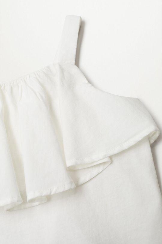 biały Mango Kids - Top dziecięcy Aries 110-164 cm