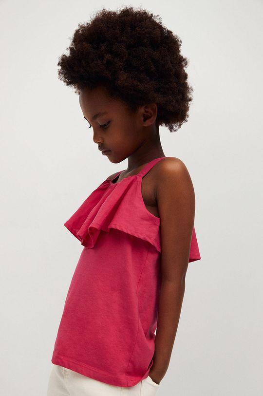 różowy Mango Kids - Top dziecięcy Aries 110-164 cm Dziewczęcy