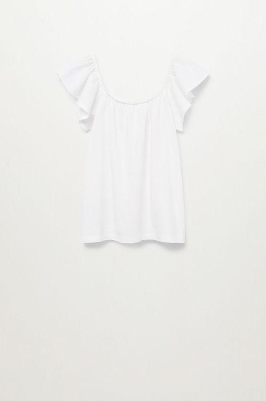biały Mango Kids - Bluzka bawełniana dziecięca Geminis 116-164 cm Dziewczęcy