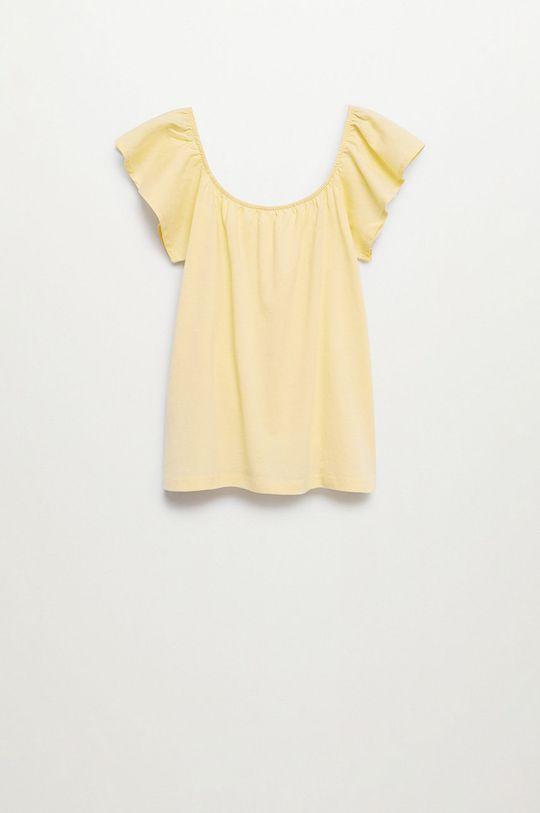žltá Mango Kids - Detská bavlnená blúzka Geminis 116-164 cm Dievčenský