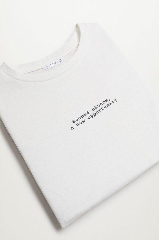 Mango Kids - T-shirt dziecięcy Ecol-I 116-164 cm biały