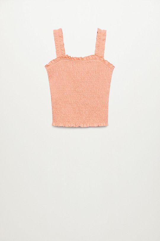 Mango Kids - Bluzka bawełniana dziecięca Emma