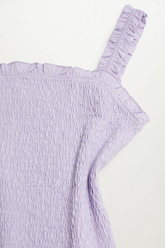 Mango Kids - Bluzka bawełniana dziecięca Emma Dziewczęcy