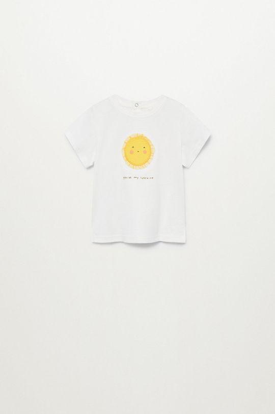 biały Mango Kids - T-shirt dziecięcy Solet 80-104 cm Dziewczęcy
