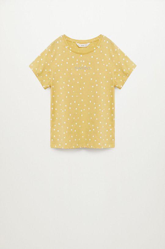 żółty Mango Kids - T-shirt dziecięcy Mangofi-H 116-164 cm Dziewczęcy