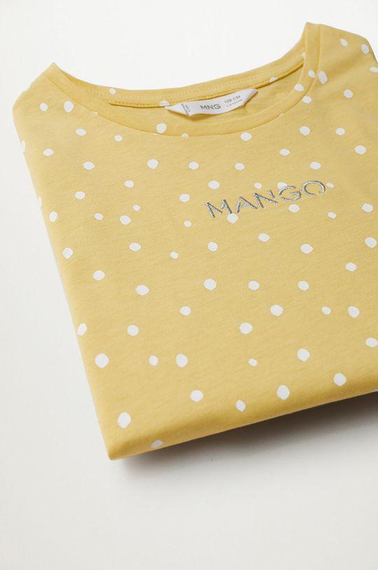 Mango Kids - T-shirt dziecięcy Mangofi-H 116-164 cm żółty
