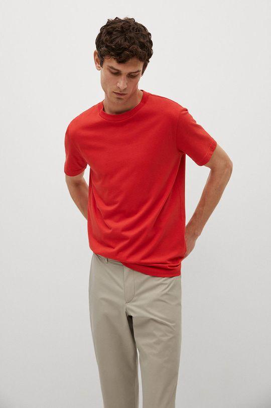 červená Mango Man - Tričko CHERLO Pánsky