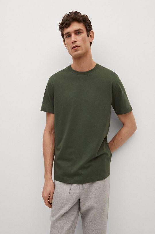 złoty brąz Mango Man - T-shirt CHERLO Męski