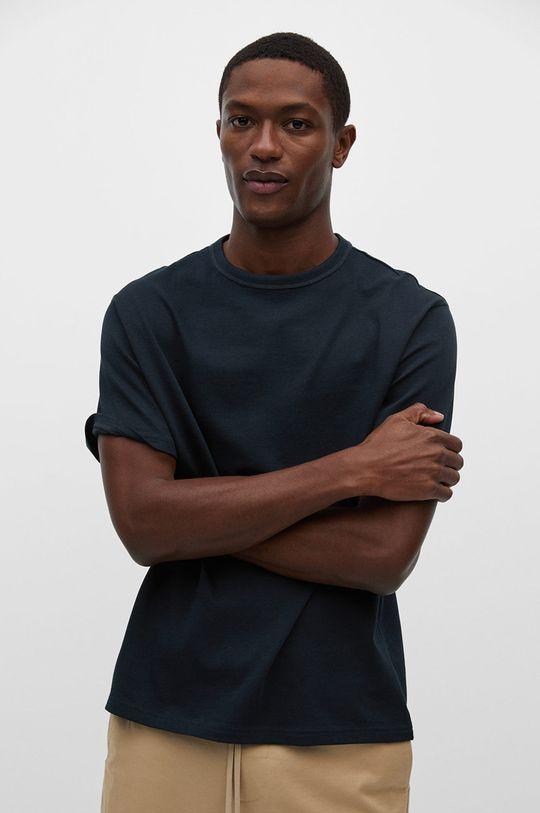 granatowy Mango Man - T-shirt ANOUK Męski