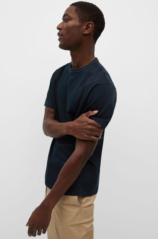 granatowy Mango Man - T-shirt ANOUK