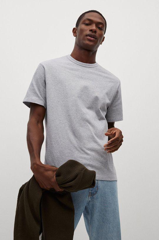 šedá Mango Man - Tričko Anouk Pánský