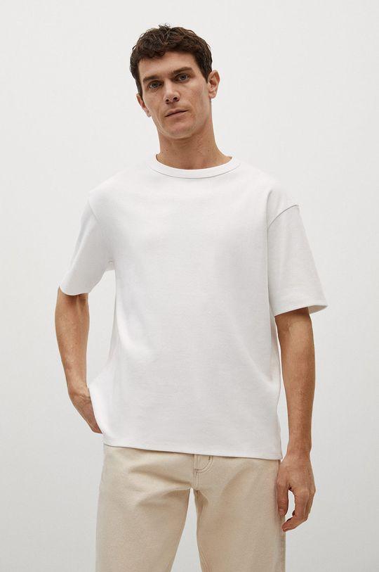 biały Mango Man - T-shirt Fede Męski