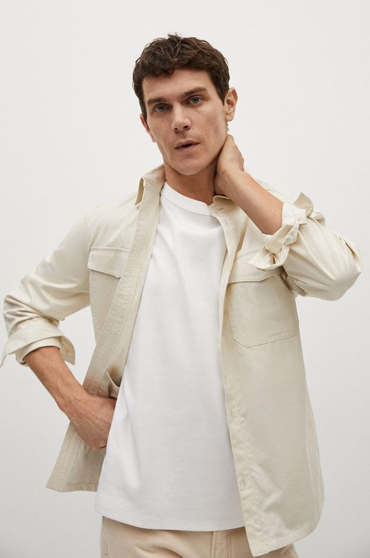 biały Mango Man - T-shirt Fede