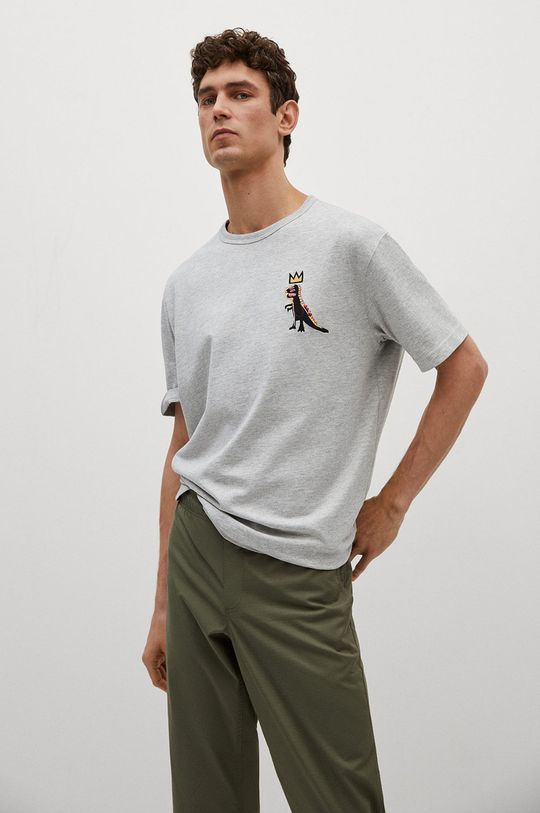szary Mango Man - T-shirt Dispense Męski