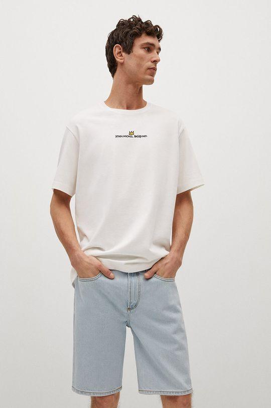 biały Mango Man - T-shirt Basquiat Męski