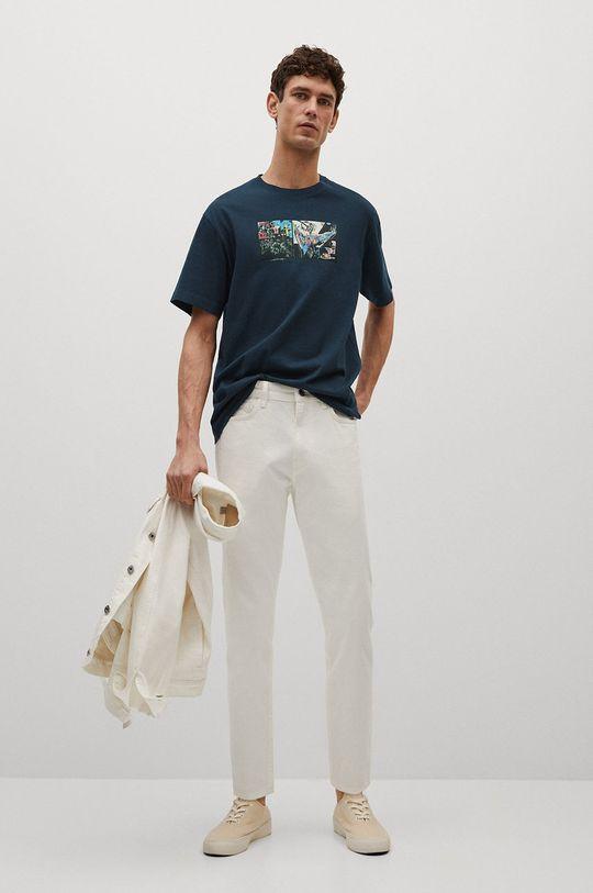 Mango Man - T-shirt Michel niebieski