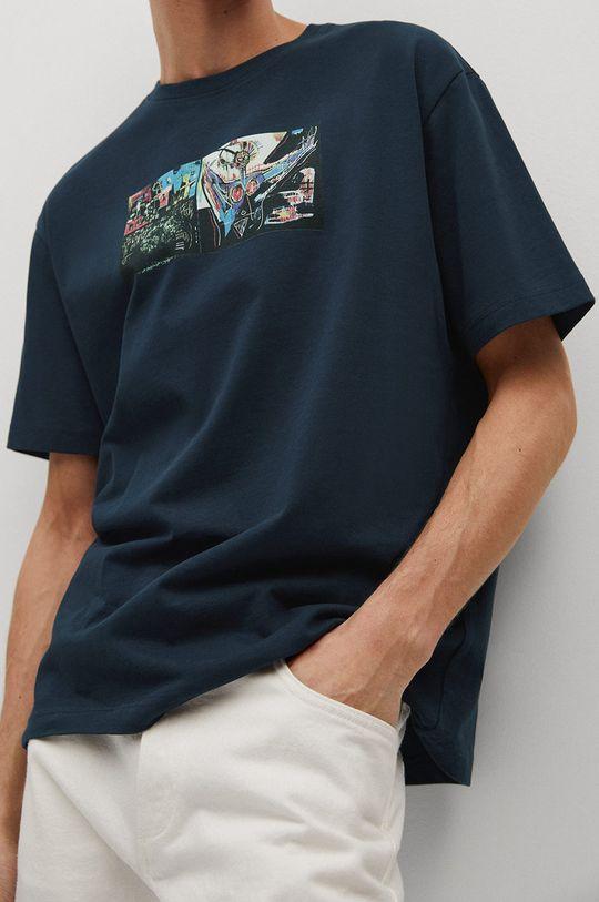 niebieski Mango Man - T-shirt Michel