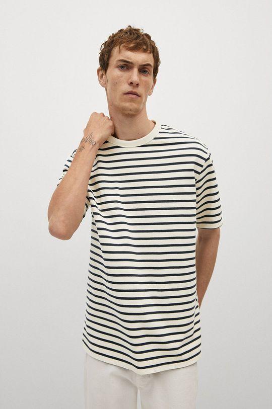biały Mango Man - T-shirt Attis Męski