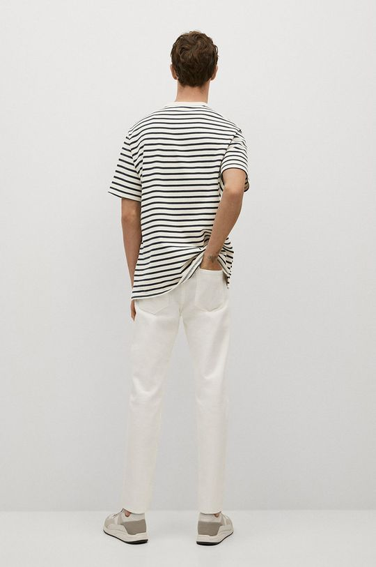 Mango Man - T-shirt Attis biały