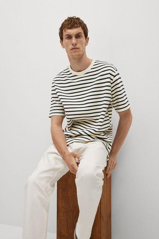 biały Mango Man - T-shirt Attis