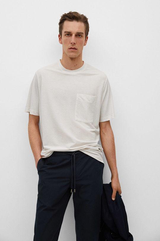 biały Mango Man - T-shirt Balls Męski