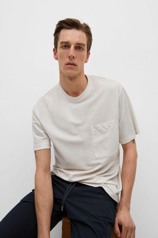 biały Mango Man - T-shirt Balls