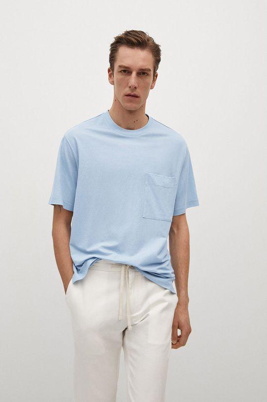 niebieski Mango Man - T-shirt Balls Męski