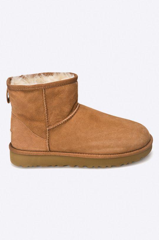 maro auriu UGG - Pantofi Classic Her/Mini II De femei