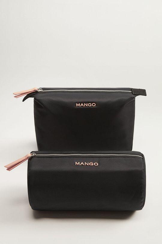 Mango - Kozmetická taška Tomas čierna