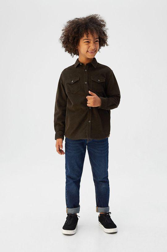 Mango Kids - Detská košeľa Mexx 110-164 cm zelená