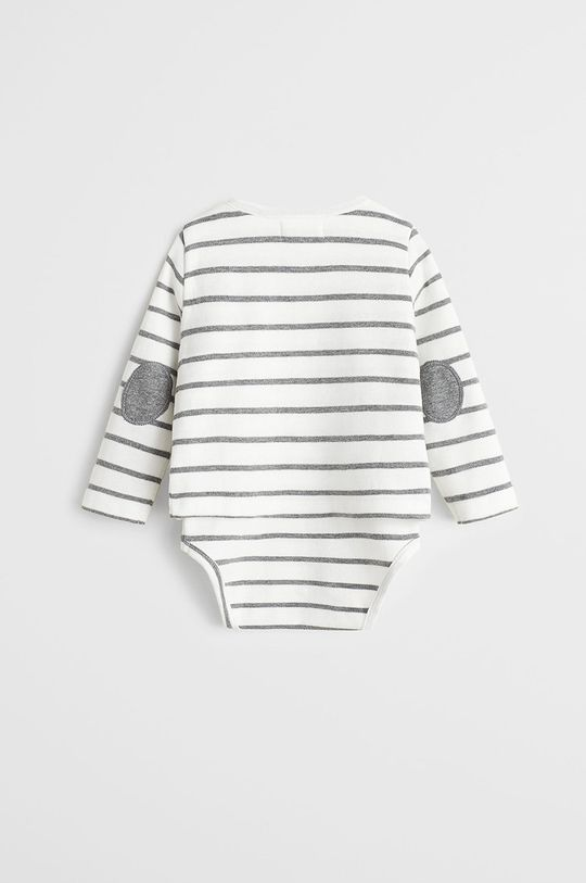 Mango Kids - Body bebe Gentle 62-80 cm alb