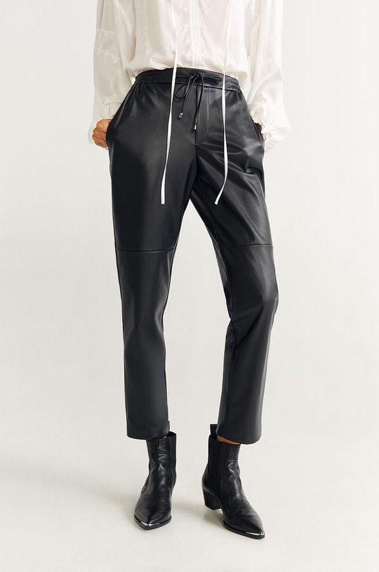 черен Mango - Панталони Apple Жіночий