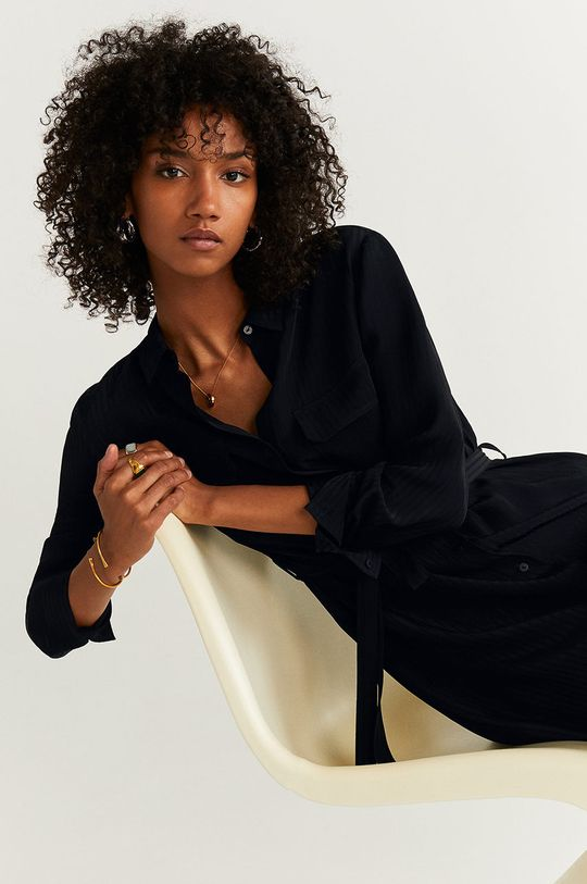 negru Mango - Rochie Ningbox-I