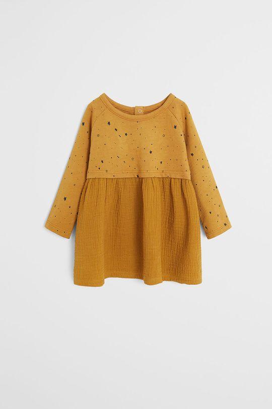 galben Mango Kids - Rochie fete Bea 80-104 cm De fete