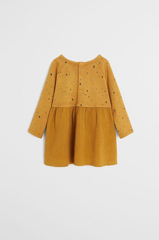 Mango Kids - Rochie fete Bea 80-104 cm galben