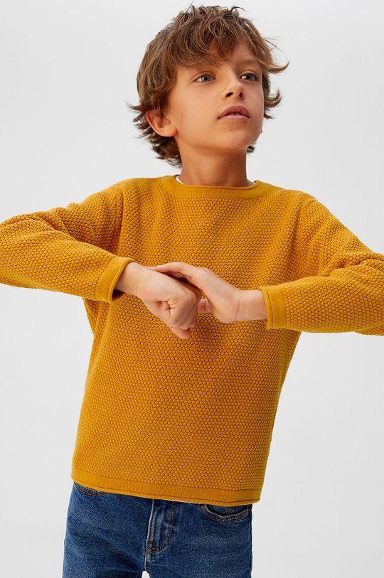 žltá Mango Kids - Detský sveter Viti5 110-164 cm Chlapčenský