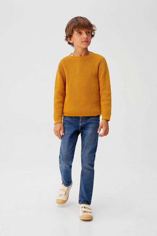 Mango Kids - Detský sveter Viti5 110-164 cm žltá