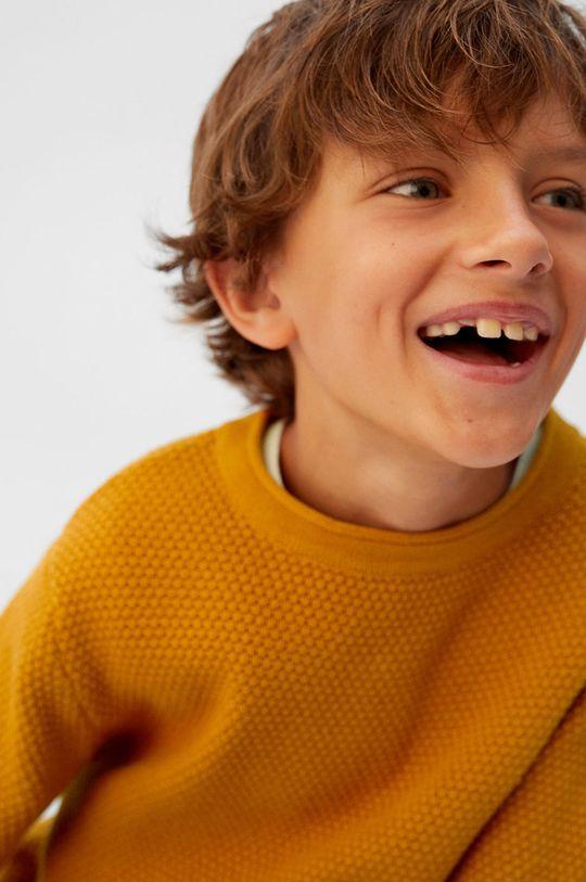žltá Mango Kids - Detský sveter Viti5 110-164 cm