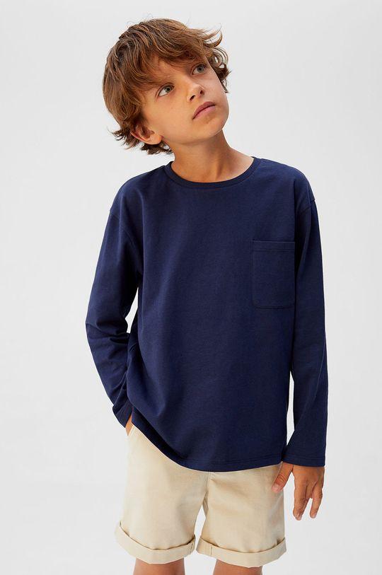 bleumarin Mango Kids - Longsleeve copii Basic5 110-164 cm De băieți