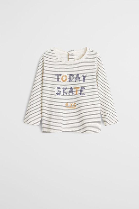 biela Mango Kids - Detské tričko s dlhým rukávom Today 80-104 cm Chlapčenský