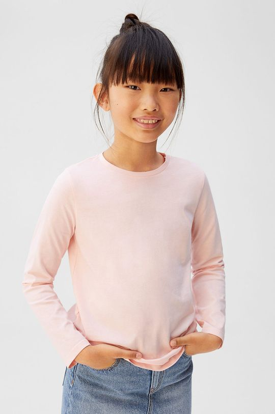roz pastelat Mango Kids - Longsleeve copii BasicG5 De fete