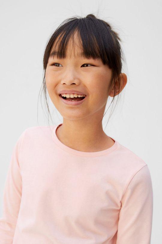 Mango Kids - Longsleeve copii BasicG5 100% Bumbac