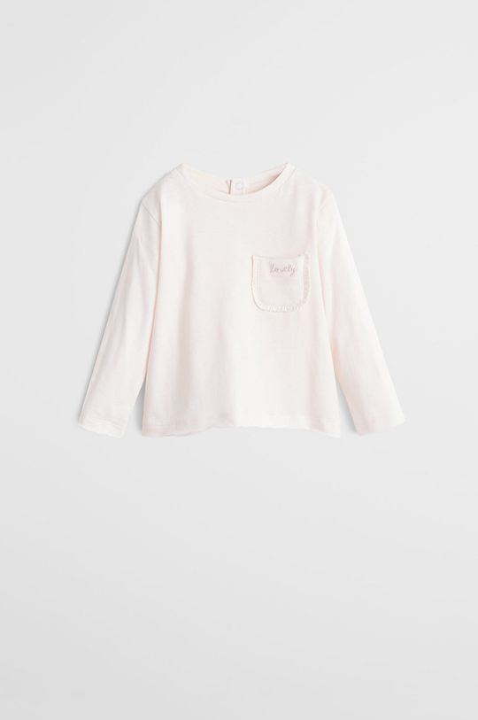 ružová Mango Kids - Detské tričko s dlhým rukávom Brillo5 80-104 cm Dievčenský