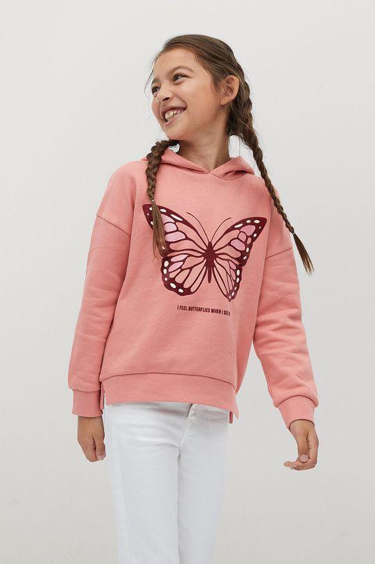 ružová Mango Kids - Detská mikina BONI Dievčenský